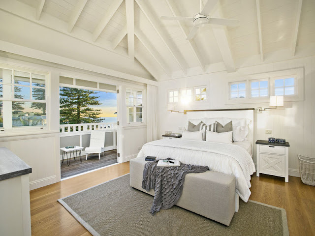 Stunning hamptons style beach house in collaroy desire for Bedroom ideas hamptons