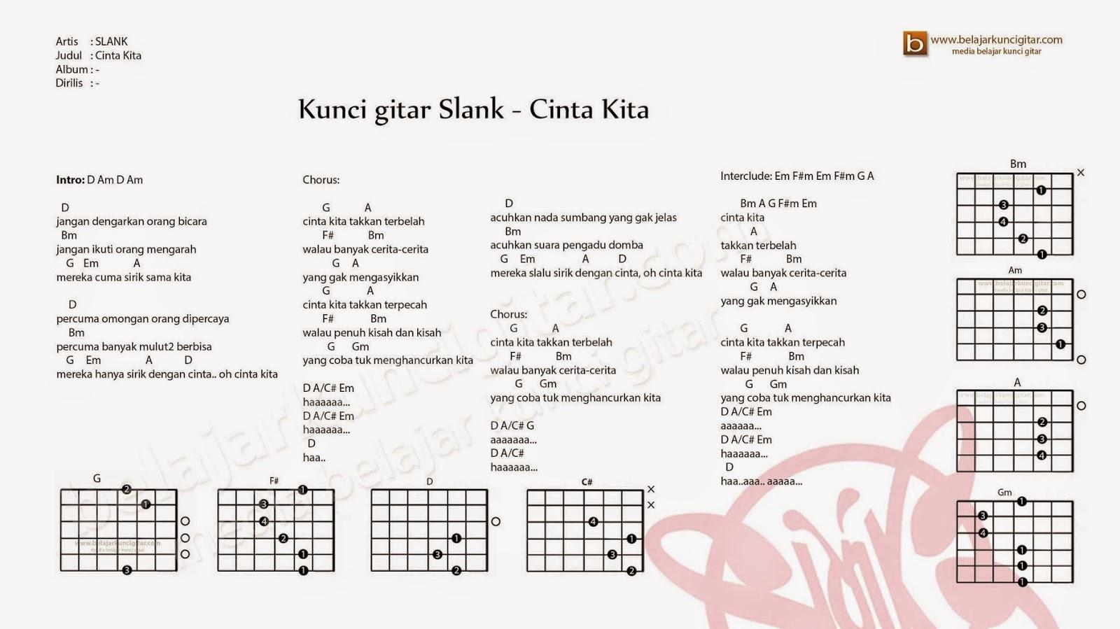 Kunci Gitar Slank Cinta Kita Lirik Dan Kunci Gitar Slank Cinta Kita Ost Get Married 2 Kunci Gitar Slank Cinta Kita Belajar Kunci Gitar