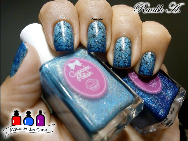 Cupcake Polish Fall Fancies 2016, Cupcake Polish Owl Always Love You, Cupcake Polish Let Your Gourd Down, Moyra 116 Burning The Ice, Unhas carimbadas, Gradiente, Raabh A. 2018