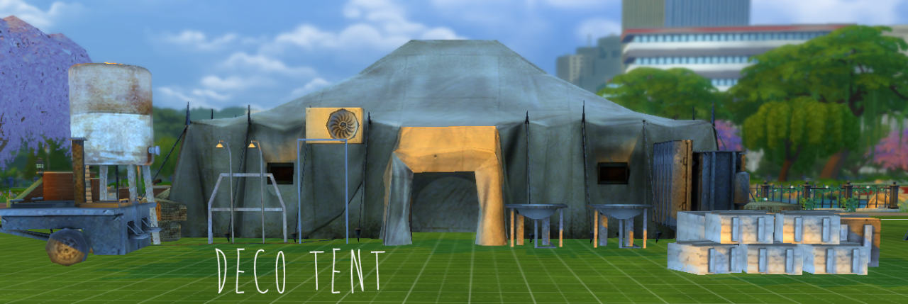 Decorative Tents Buildings and People by YourDorkBrains & My Sims 4 Blog: Decorative Tents Buildings and People by ...
