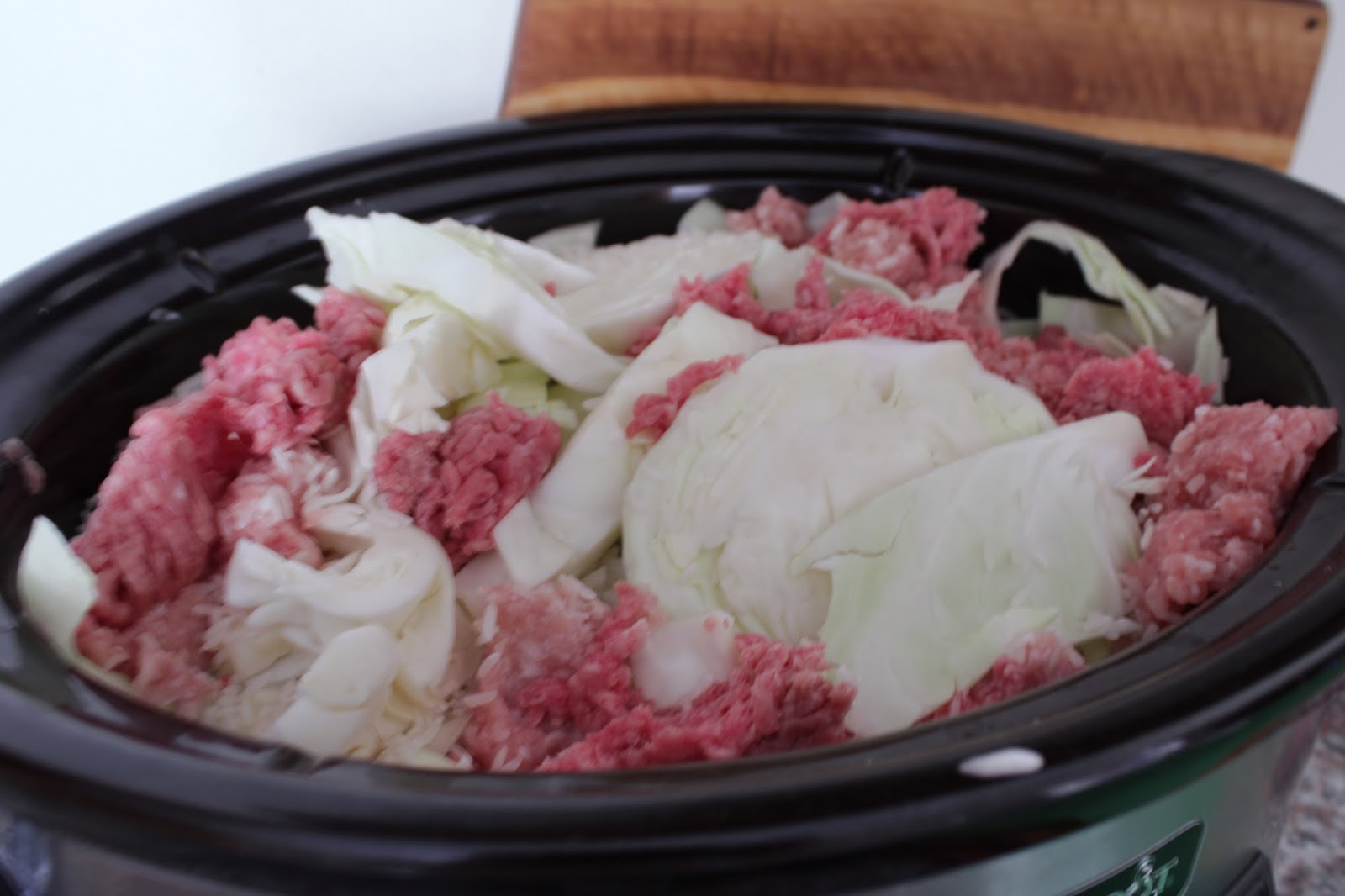 Crockpot deconstructed cabbage rolls
