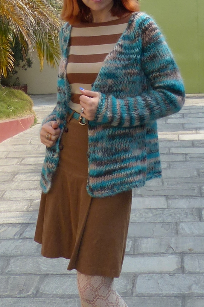 Mohair hand knitted cardigan