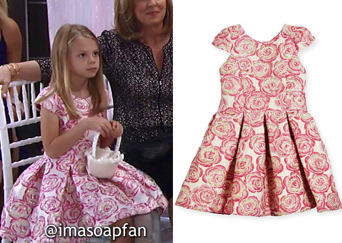 Charlotte Cassadine, Scarlett Fernandez, Rose Brocade Party Dress, Zoe, General Hospital, GH