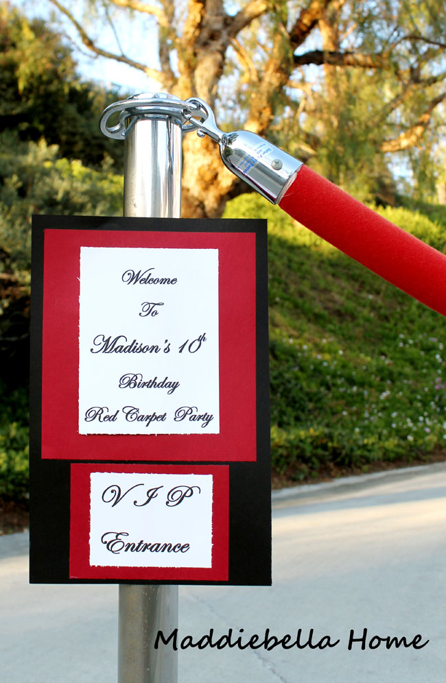 how to make a VIP entrance for an oscar party