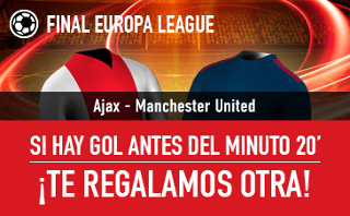 sportium promocion Ajax vs United Final Europa League 24 mayo