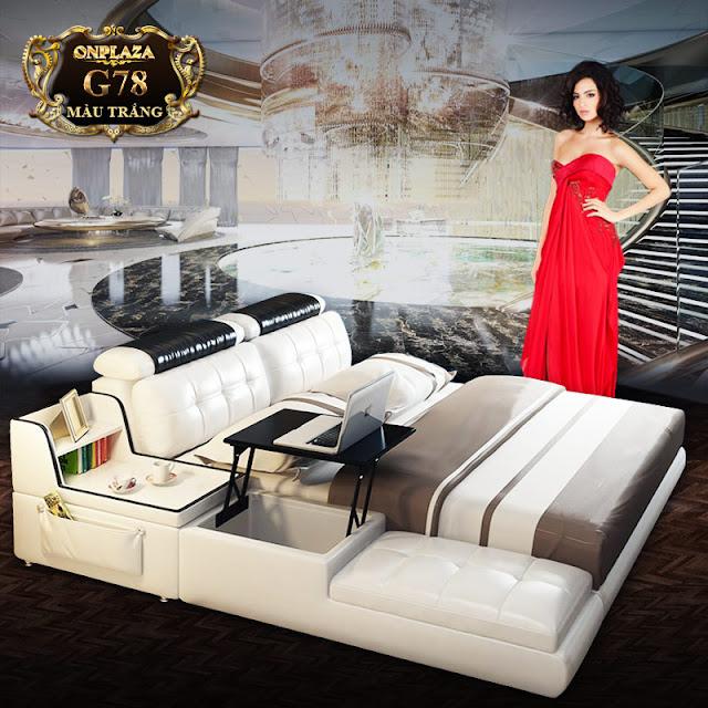 Chiếc giường ngủ đa năng phong cách Châu Âu cao cấp thể hiện sự sang trọng cho không gian nhà bạn G78; Giá: 23.328.000 VNĐ
