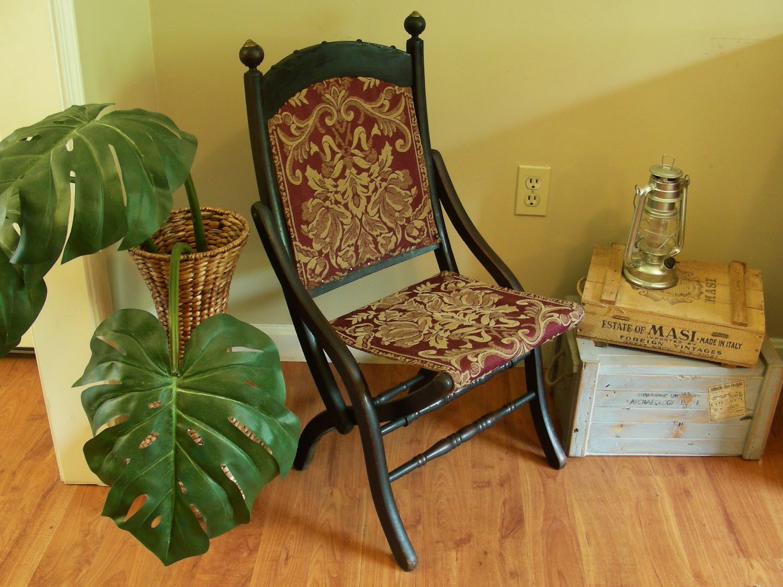 folding chair upcycle living room covers at target destinations vintage upcycled and repurposed stuff