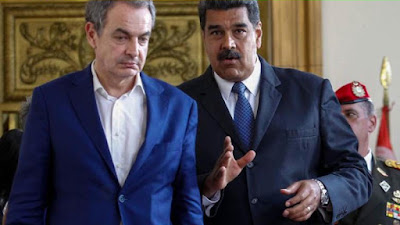 Rodríguez Zapatero y su amigo Maduro (Foto de Internet)