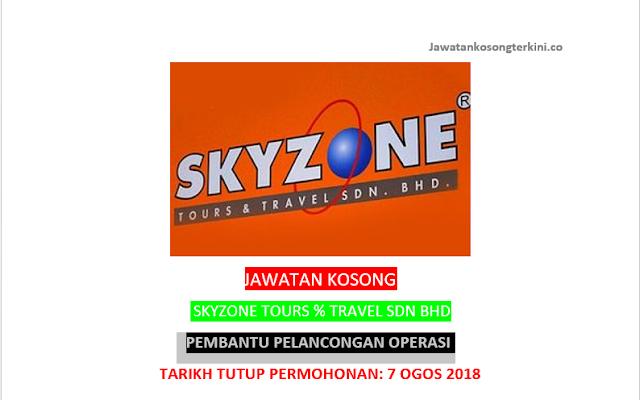 Jawatan Kosong Skyzone Tours & Travel Sdn Bhd