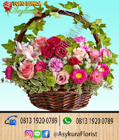 Toko Bunga Jakarta Rangkaian Bunga Rose In Basket