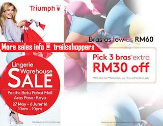 Triumph Lingerie Warehouse Sales Johor
