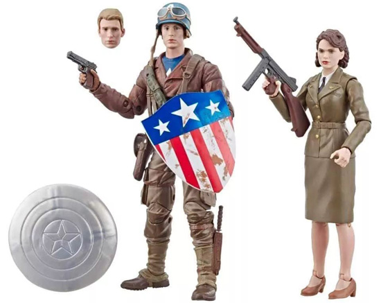 Marvel 80th Anniversary Marvel Legends Captain America and Peggy Carter toys