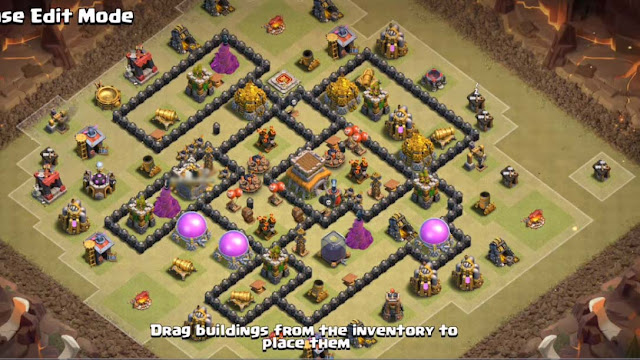 town hall 8 war base anti 3 stars and anti dragon