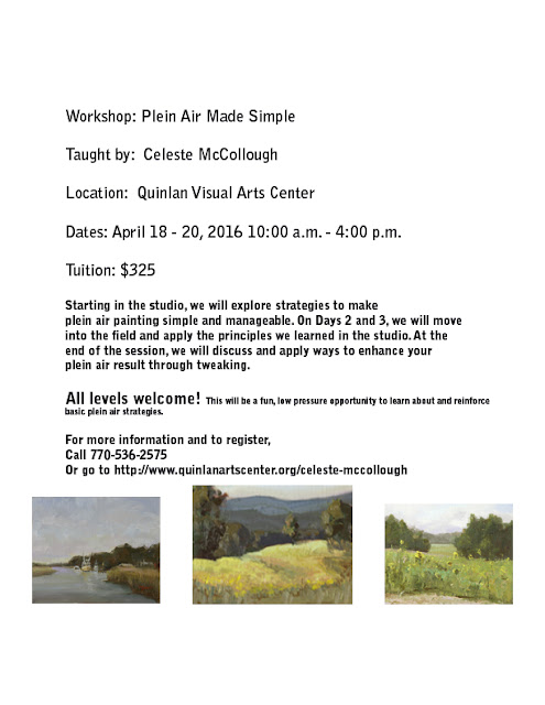 Plein Air Made Simple! A workshop April 18 - 20