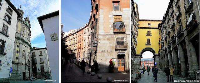 Madri do Capitão Alatriste:  Calle San Justo, Cuevas de San Miguel e Plaza Mayor (Alatriste)