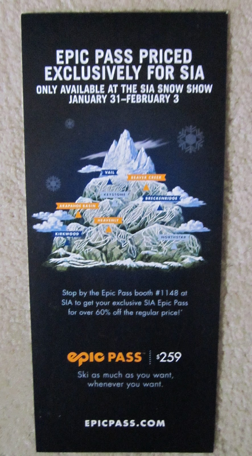 Colorado Ski Deals and Bargains: Blackout days for the ...Epic Pass