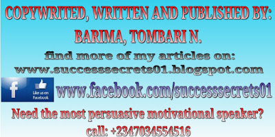 Written, copywrited and published by Barima, Tombari N.