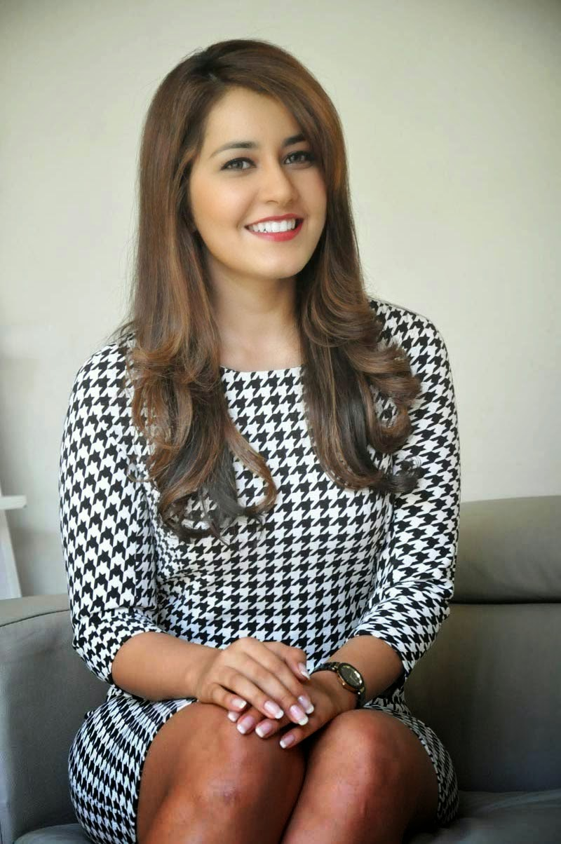 Rashi Khanna at Telugu Movie Interview Promotion