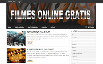 Template Filmes Online Gratis