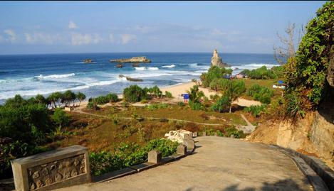 Tempat wisata pantai buyutan pacitan