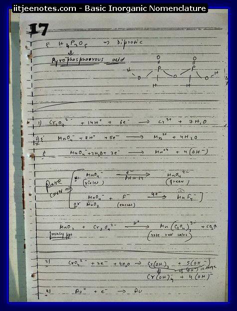 Inorganic Nomenclature Notes1