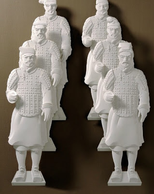JEFF NISHINAKA's Paper Sculpture-Terra Cotta Warriors