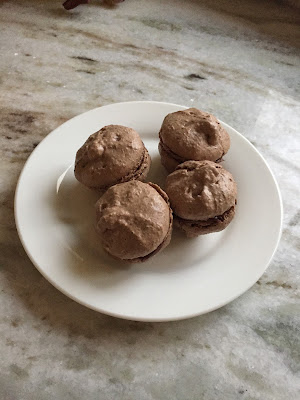This Month I..., Macaroons, How To Make Macaroons, Nutella, Chocolate Macaroons
