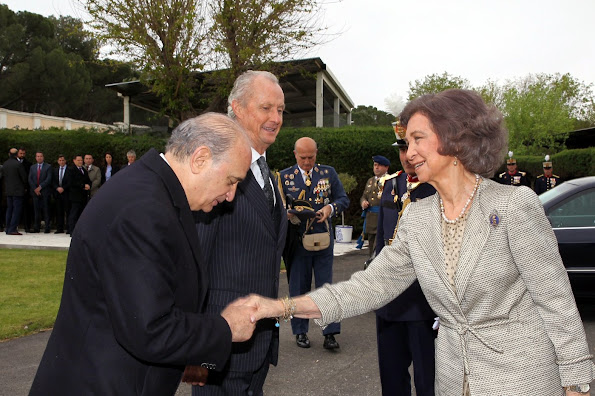 Queen Sofia of Spain attends the Oath of Allegiance of the Civil People at El Pardo Palace