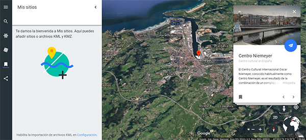 Google Earth recorridos