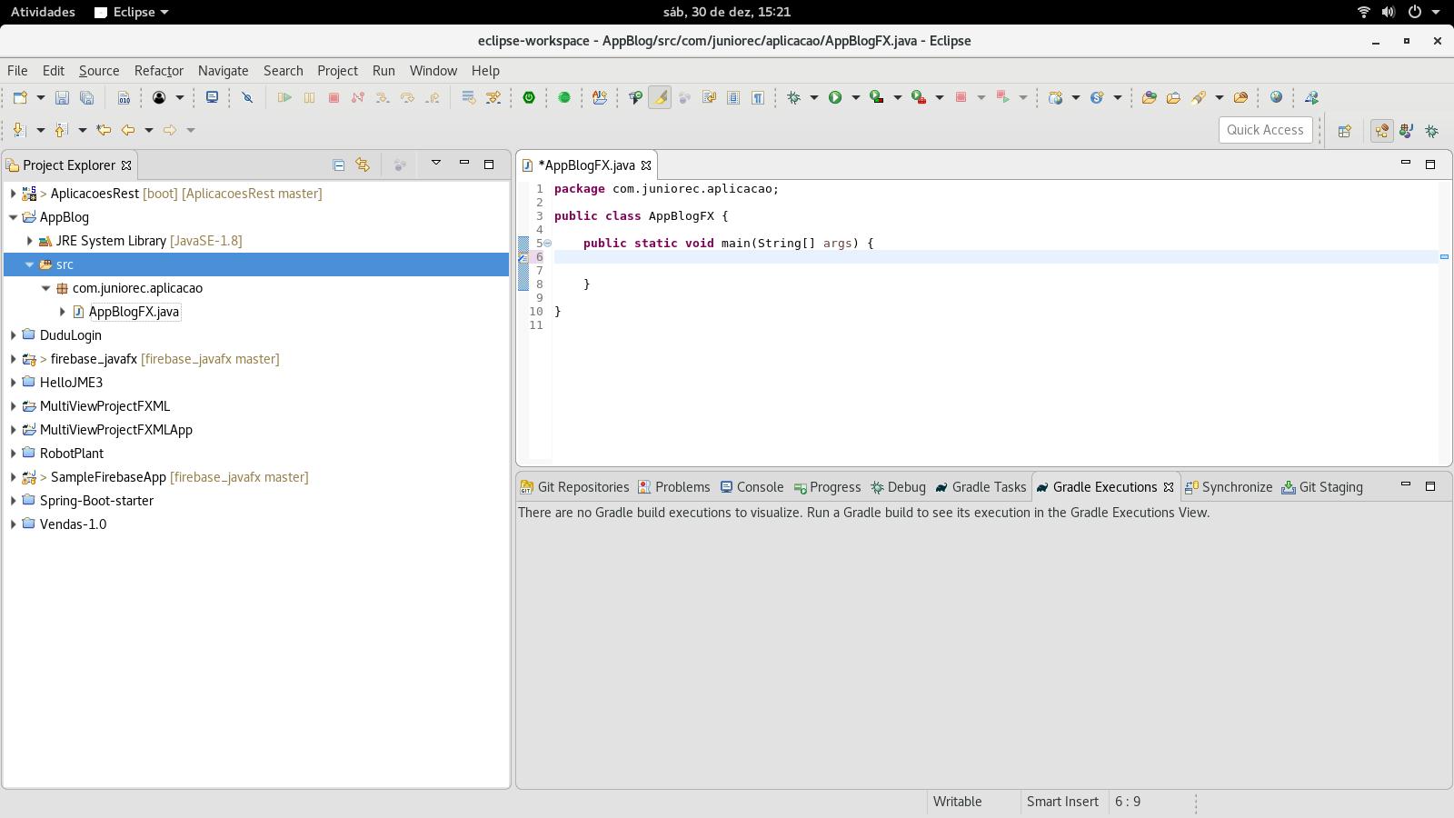 João D  Junior: Java FX - Primeira aplicação