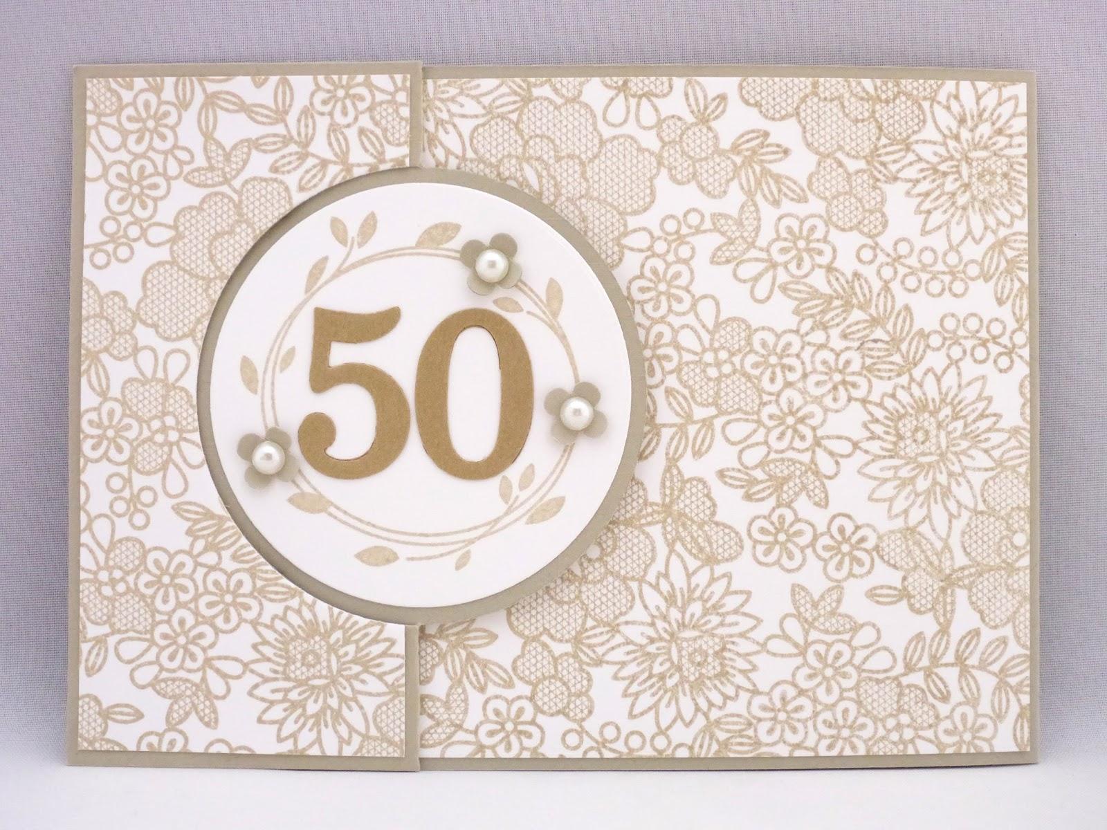 Sabines Basteltisch Karte Zur Goldenen Hochzeit