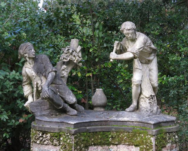Giocatori della pentolaccia, Pentolaccia Players by Giovanni Battista Capezzuoli, Giardino di Boboli, Boboli Gardens, Florence