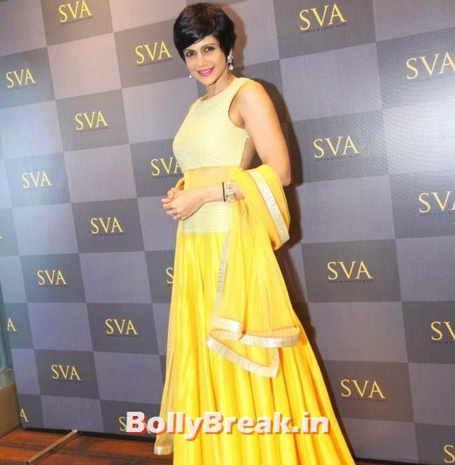 Mandira Bedi, Mandira Bedi, Neha Sharma, Karishma Tanna, Satyarupa  Photos from SVA Bridal Store Opening