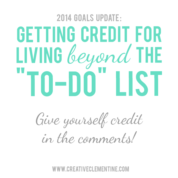 2014 Goals Update - and a Q&A on creativeclementine.com