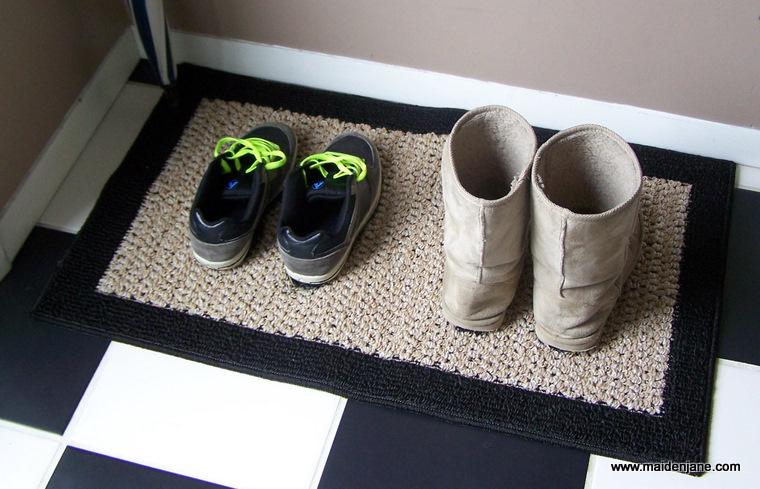 Cinders Says Sharing Time Diy Painted Shoe Rug
