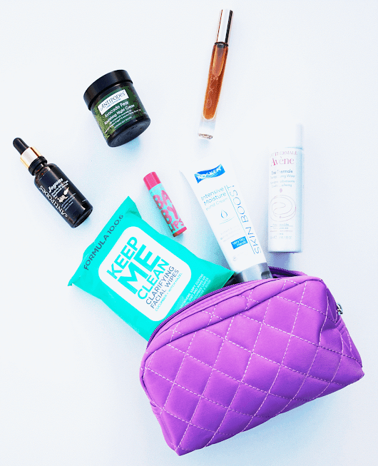My Long Haul Flight Beauty Essentials.