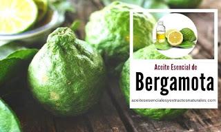 Aceite esencial de bergamota en listado de aceites y esencias para Aromaterapia