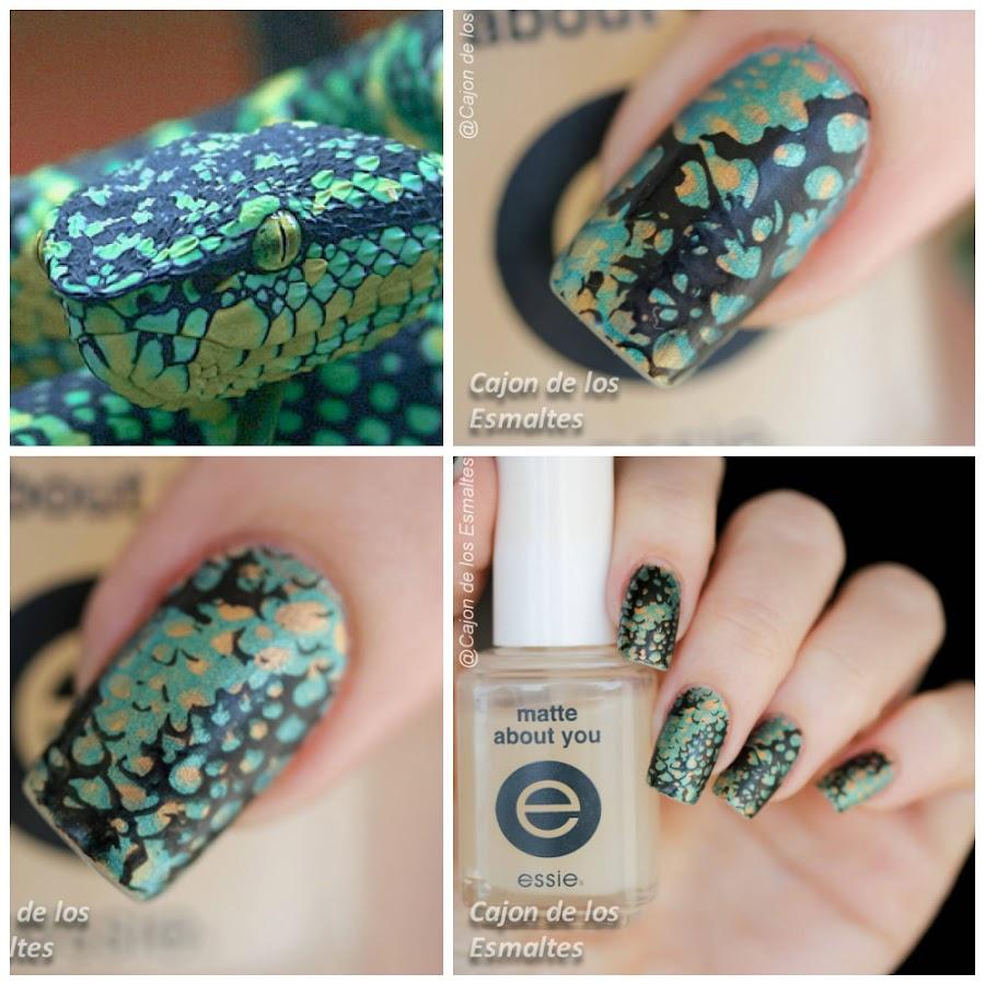 Estampado animal print - Uñas de Serpiente