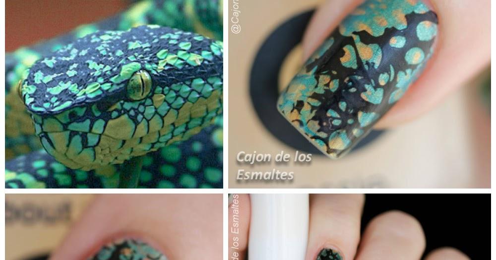 Estampado animal print - Uñas de Serpiente | Cajon de los esmaltes
