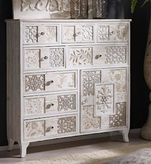 Mueble Cajones alto Blanco Decape Michelle