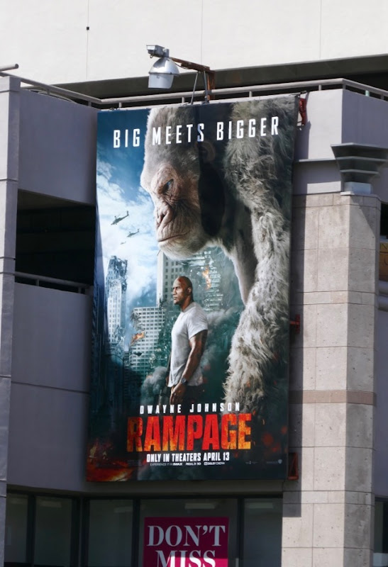 Rampage film billboard