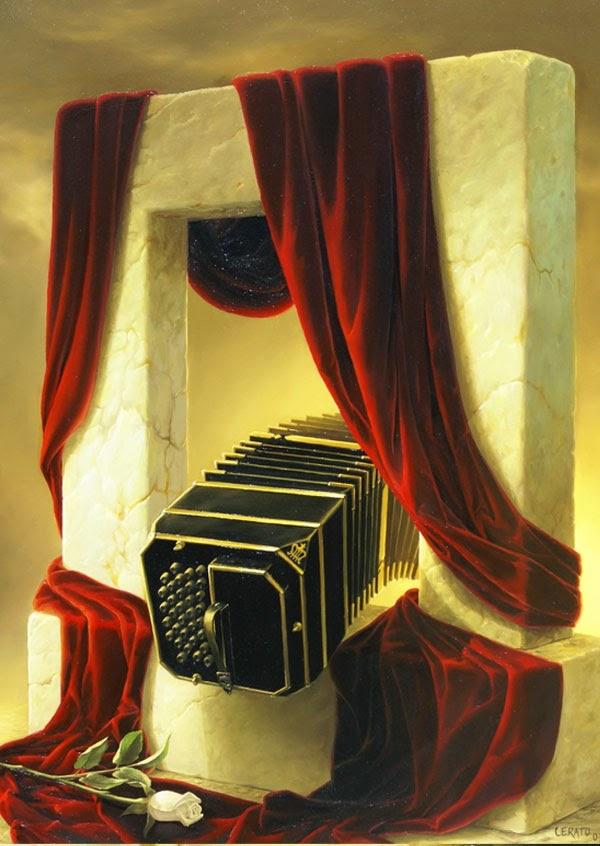 Repouso - Ileana Cerato e seu surrealismo nostálgico ~ Pintor argentino
