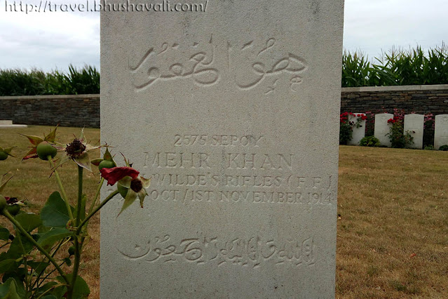 Mehr Khan - Bedford Cemetery, Ypres, Belgium