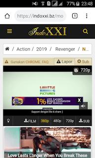 Halaman Streaming IndoXXI via Smartphone