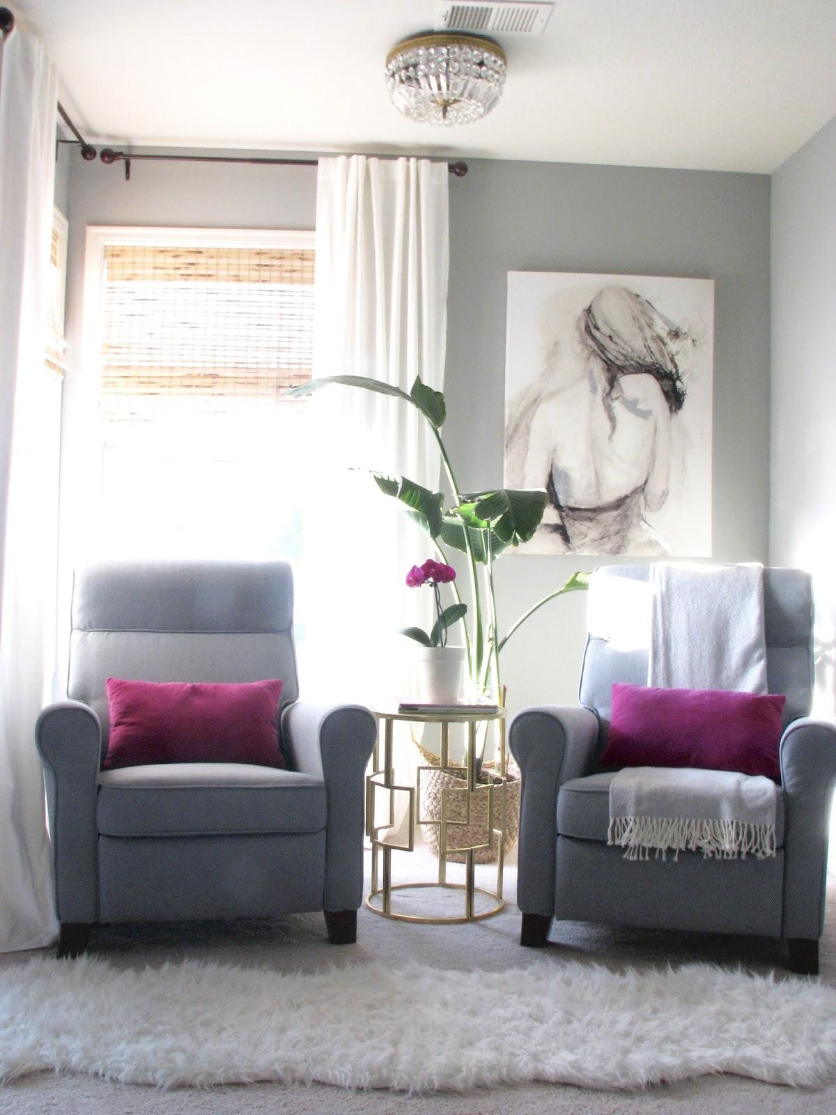 life love larson: master bedroom sitting area