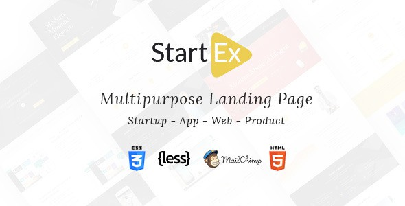 StartEx Multipurpose Landing Page Template
