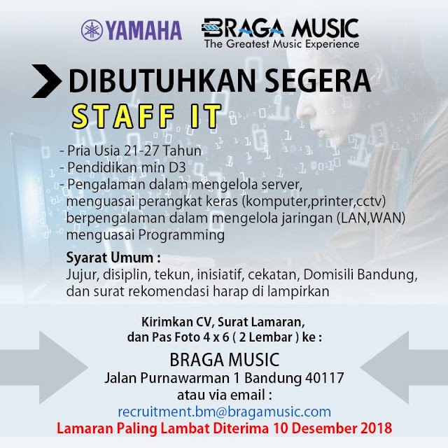 Lowongan Kerja Braga Music Bandung