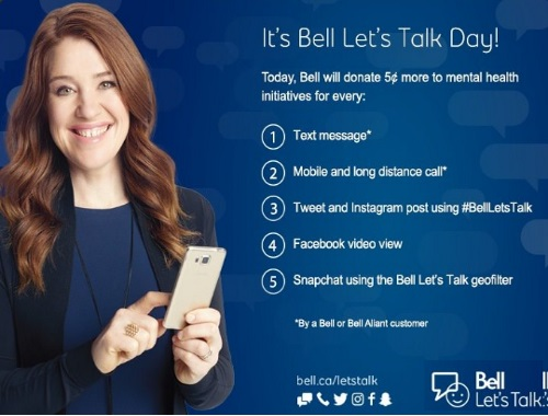 Bell Let's Talk Day #BellLetsTalk