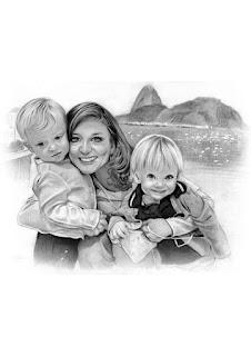 retratos realistas de família