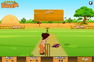 Play Chhota Bheem Target Practice with Chhota Bheem, Kaalia and Chutki